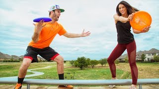 ADVANCED FRISBEE THROWS 2 (Epic Final Shot) | Brodie & Kelsey