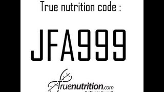 Repeat youtube video JFA999 True Nutrition Discount Code Free - Good for 2013 2014 2015 2016...JFA999