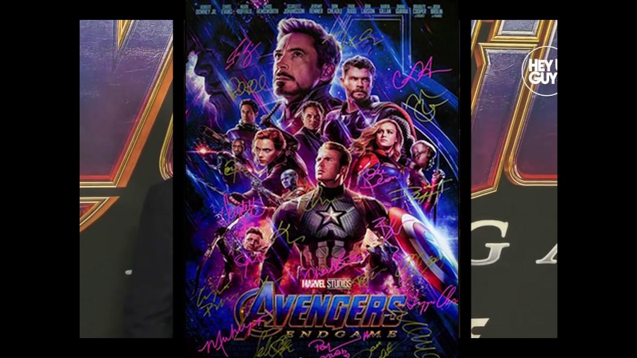 avengers endgame signed poster coa