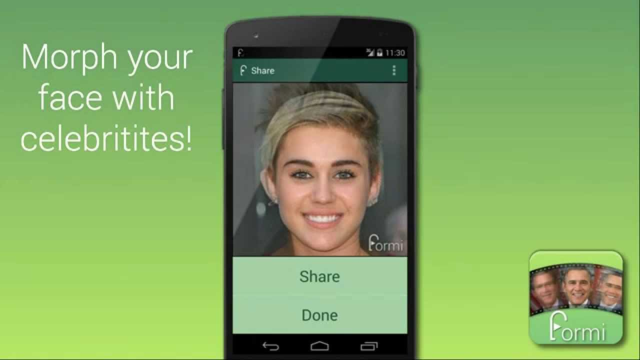 Formi App - Create face morphing videos easily!