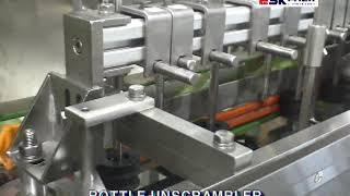 34 용기정렬기 용기공급기 용기방향전환기 120 BPM…