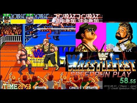 WWF Wrestlefest - Speedrun 1 Credit (11:23:76) / WWF 레슬페스트 스피드런