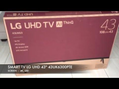 MURAH BERKUALITAS LG SMART TV 43UK6300PTE LED LAYAR 4K