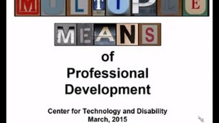 21st Century PD - Multiple Means of Professional Development