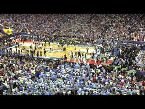 Villanova vs North Carolina Kris Jenkins 3 point shot Live Crowd Reaction 2016