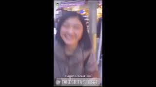 私立恵比寿中学 エビ中 廣田あいか インスタ ストーリー シンガロン・シ...