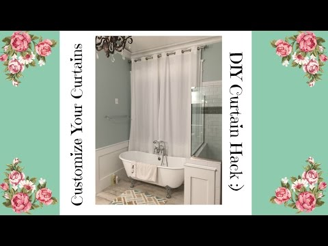 EASY DIY Customize Your Curtains