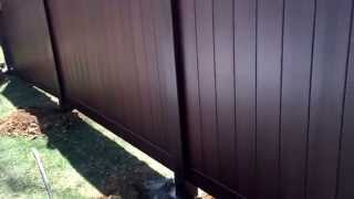 Installing New Fence Grand Illusion Mahogany Vinyl Pvc