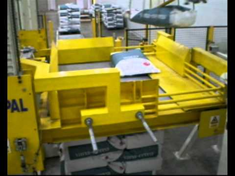 JMP ENGINEERING - Bag Palletizing System (K-PAL) with Top and Side Compression