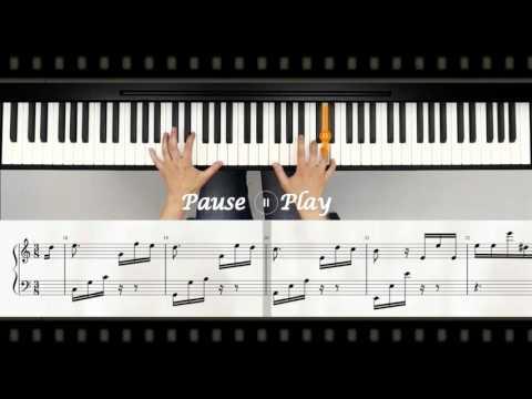 Music Notes for FUR ELISE (easy version)