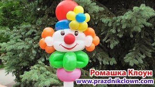 КЛОУН ИЗ ШАРОВ на палочке Balloon Clown DIY TUTORIAL