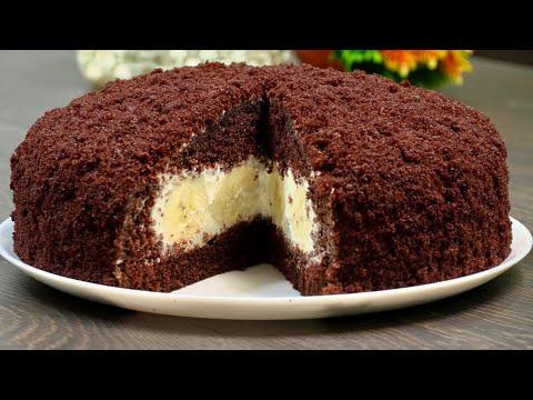 Sadə bisqivitlə ən dadlı bananlı tort resepti😋