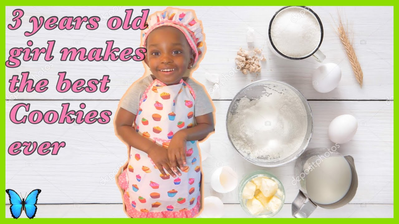 3 years old girl makes the best cookies ever