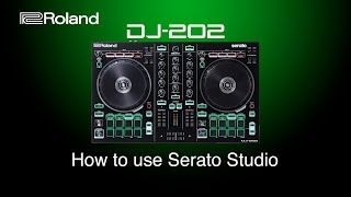Roland DJ-202 - How to use Serato Studio