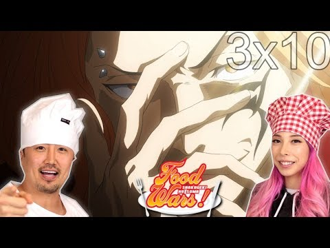 Dancing Salmon! Shokugeki No Soma Third Plate Episode 10 REACTION!