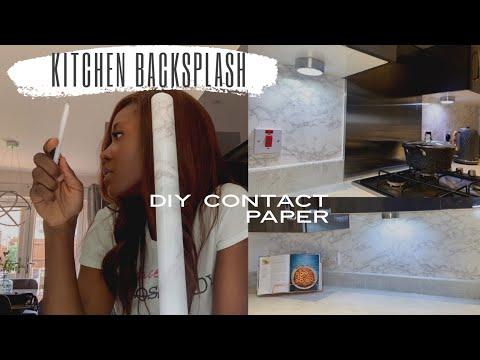 BEST DIY MARBLE BACKSPLASH CONTACT PAPER | KITCHEN MAKEOVER IDEAS | JENNIFER BELLO