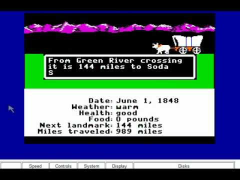 The Oregon Trail for Apple II
