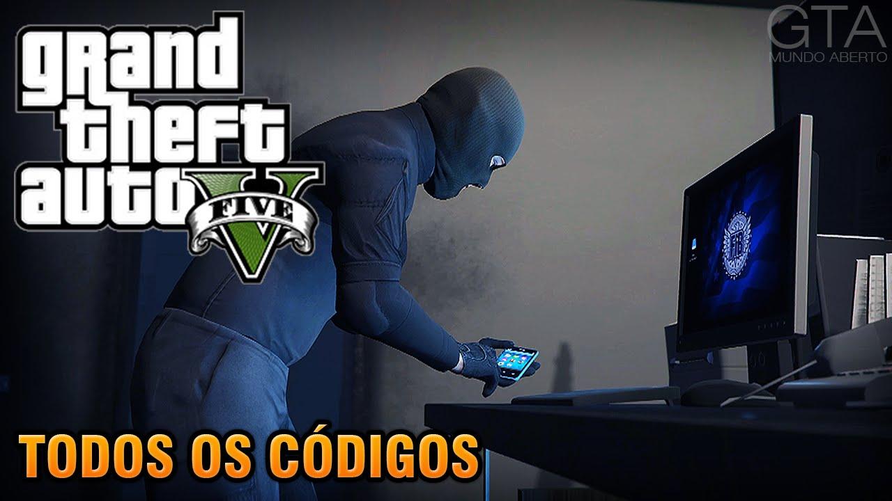 GTA V Todos Os Cdigos PS3 PS4 Xbox 360 Xbox One