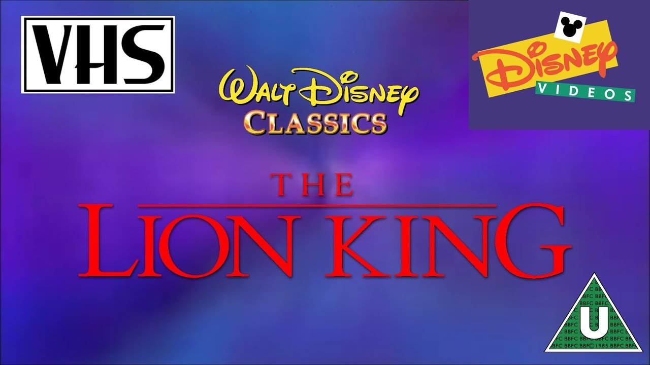 the lion king vhs uk