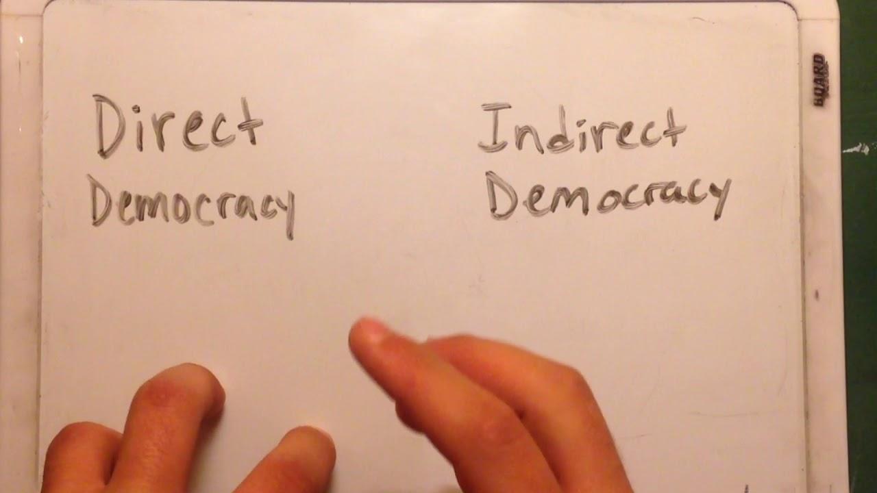 Essay direct indirect democracy