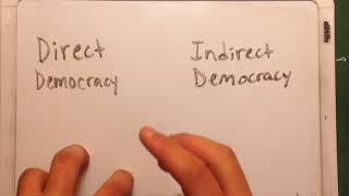 Direct and Indirect Democracy