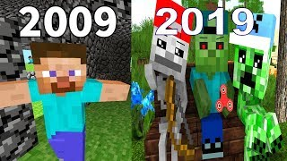 Evolution Of Minecraft  2009 -2019