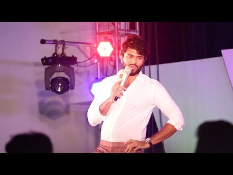 Vijay Devarakonda Mind Blowing Speech at SRM Milan 2018 |  Chennai | Nota