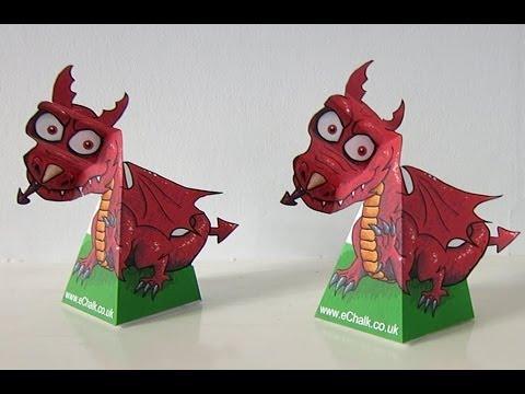 Amazing 3D Swivel Head Illusion: Dewi The Dragon
