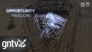 Drone footage of Expo 2020 Dubai Thematic Pavilions
