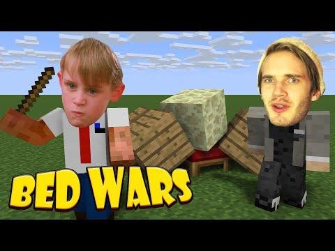 PEWDIEPIE OCH KEVIN! | Bed Wars
