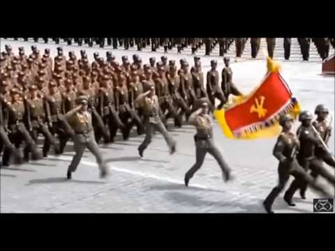 "Pyongyang North_Korean Military Parade  2017 Day Of The Sun  ""Military March"""
