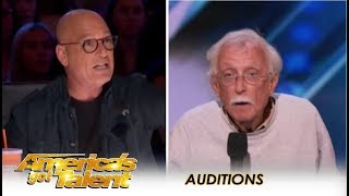 Watch What Happens When Howie Recognizes Fellow Comedian From Years Past | America's Got Talent 2018