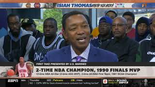 Isiah Thomas  Stephen A Smith HEATED DEBATE Who is NBA MVP at All-Star break  First Take
