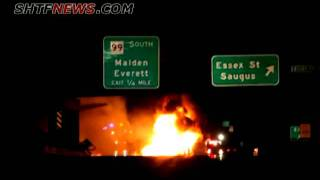 Gas tanker truck crashes in Mass.; driver dies 7-23-2011