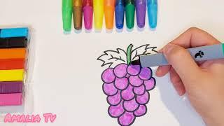 رسم أطفال | طريقة رسم العنب | تعليم الرسم للأطفال