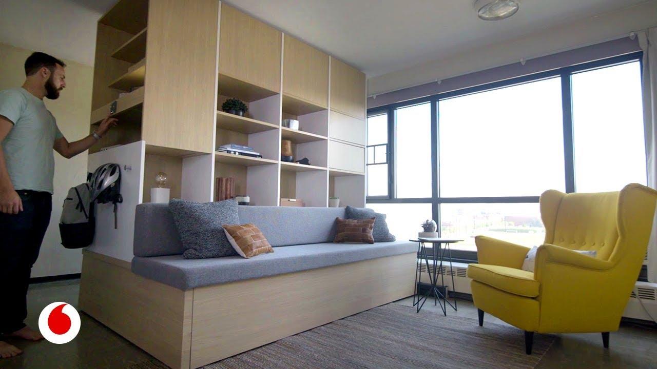 Muebles inteligentes que duplican el espacio de tu casa for Muebles practicos para casas pequenas
