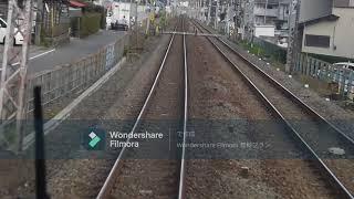小田急8000形8052F 急行新宿行き 前面展望(新松田~登戸) (1/4)