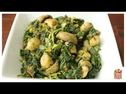 Kale and Mushroom Saut
