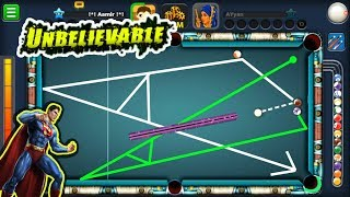 The ULTIMATE SUPERMAN SHOT ESCAPE In 8 Ball Pool...(mind-blowing)