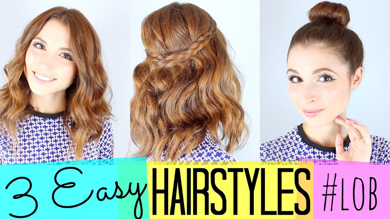 Hair Styles For Summer: 3 Easy Hairstyles!! #lob