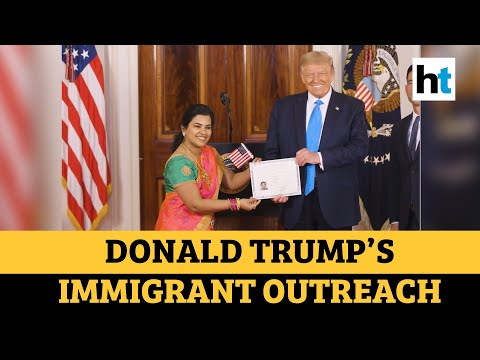 Watch: Indian software engineer becomes US citizen in ceremony hosted by Trump