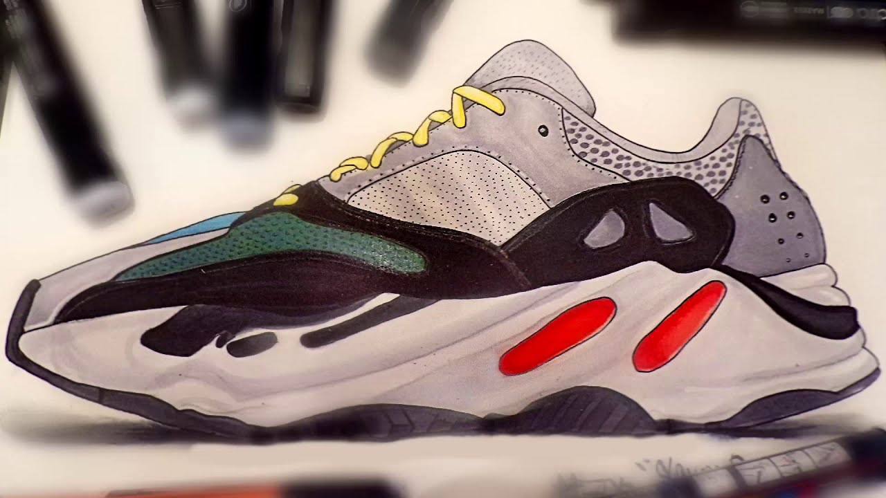 DRAWING -ADIDAS YEEZY BOOST 700 WAVE
