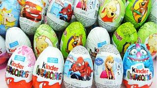 Surprise Eggs Minions Disney Frozen Spiderman Surprise Egg Kinder Toys Rev