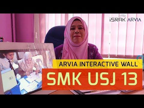 Arvia Interactive Wall at SMK USJ 13, Subang. #1st in MALAYSIA!