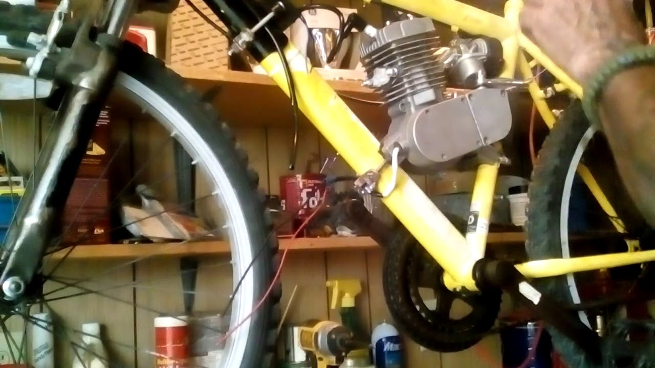 Wiring The Kill Switch On 49cc Motorized Bicycle Youtube