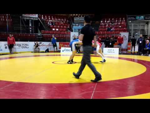 2016 Canadian Junior Championships: 74 kg Alex Moore vs. Cody Osborn