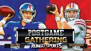 Live! San Francisco 49ers vs New York Giants NFL 2018 Week 10 Postgame Gathering