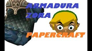 Papercraft Zora Armor link, por Ninjatoes