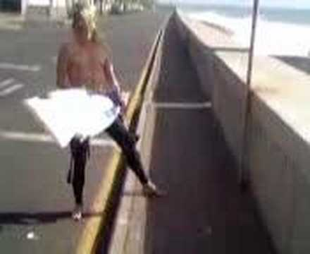 Nor Cal surfer Zane upset about snapping another surfboard