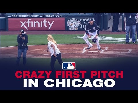 Rachel Lutzker - This Woman tossed the Worst First Pitch EVER